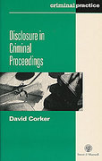 Cover of Disclosure in Criminal Proceedings