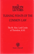 Cover of The Hamlyn Lectures: Turning Points of the Common Law