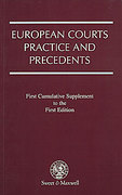 Cover of European Courts Practice and Precedents: Supplement