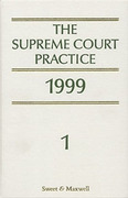 Cover of The Supreme Court Practice 1999 (The White Book) The Last Pre-Woolf Edition