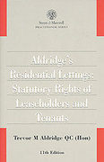 Cover of Aldridge's Residential Lettings: Statutory Rights of Leaseholders and Tenants