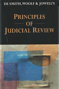 Cover of De Smith, Woolf, & Jowell's Principles of Judicial Review