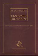 Cover of Society of Trust and Estate Practitioners: Standard Provisions