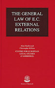 Cover of The General Law of E.C. External Relations