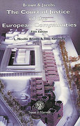 Cover of Brown and Jacobs: The Court of Justice of the European Communities