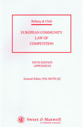 Cover of Bellamy and Child: European Community Law of Competition 5th ed: Appendices Only