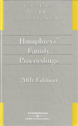 Cover of Humphreys Family Proceedings