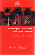 Cover of The Hamlyn Lectures: Human Rights, Serious Crime and Criminal Procedure