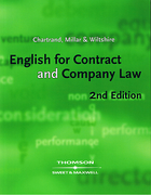 Cover of English for Contract and Company Law