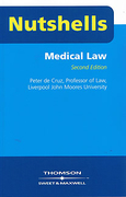 Cover of Nutshells Medical Law 2nd ed (No New Edition)