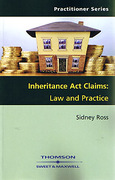 Cover of Inheritance Act Claims: Law and Practice