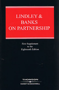 Cover of Lindley and Banks on Partnership 18th edition: 1st Supplement