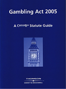 Cover of Gambling Act 2005 - A Current Law Statute Guide