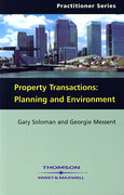 Cover of Property Transactions: Planning and Environment