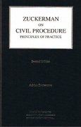 Cover of Zuckerman on Civil Procedure: Principles of Practice