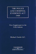 Cover of The Police and Criminal Evidence Act 1984 5th ed: 1st Supplement