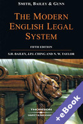 Cover of Smith, Bailey and Gunn on the Modern English Legal System (Book & eBook Pack)