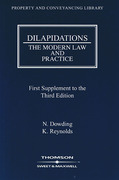 Cover of Dilapidations: The Modern Law and Practice 3rd ed: 1st Supplement