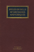 Cover of Byles on Bills of Exchange and Cheques