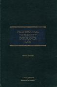 Cover of Professional Indemnity Insurance Law