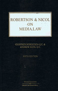 Cover of Robertson & Nicol on Media Law