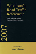 Cover of Wilkinson's Road Traffic Referencer