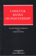 Cover of Lindley and Banks on Partnership 18th edition: 2nd Supplement