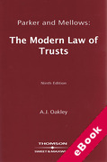 Cover of Parker & Mellows: The Modern Law of Trusts (eBook)