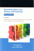 Cover of Discrimination Law: Theory and Context - Text and Materials