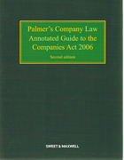 Cover of Palmer's Company Law: Annotated Guide to the Companies Act 2006