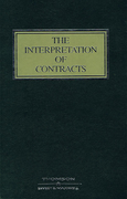 Cover of The Interpretation of Contracts 4th ed with 1st Supplement