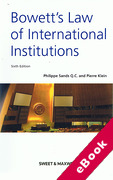 Cover of Bowett's Law of International Institutions (eBook)