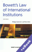 Cover of Bowett's Law of International Institutions (Book & eBook Pack)