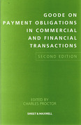 Cover of Goode on Payment Obligations in Commercial and Financial Transactions