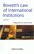 Cover of Bowett's Law of International Institutions