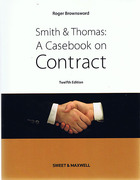 Cover of Smith & Thomas: A Casebook on Contract