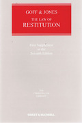 Cover of Goff & Jones: The Law of Restitution 7th ed: 1st Supplement
