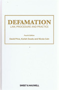 Cover of Defamation: Law, Procedure and Practice