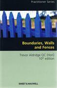 Cover of Boundaries, Walls and Fences