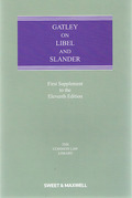 Cover of Gatley on Libel and Slander 11th ed: 1st supplement