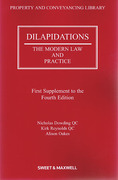Cover of Dilapidations: The Modern Law and Practice 4th edition: 1st supplement