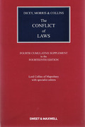 Cover of Dicey, Morris & Collins: The Conflict of Laws 14th ed: 4th Supplement