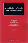 Cover of Arnould's Law of Marine Insurance and Average 17ed: 1st Supplement