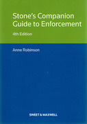 Cover of Stone's Companion Guide to Enforcement