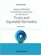 Cover of Hayton & Mitchell Commentary and Cases on the Law of Trusts and Equitable Remedies