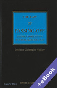Cover of The Law of Passing-Off: Unfair Competition by Misrepresentation 4th ed (Book & eBook Pack)