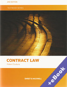 Cover of Contract Law Textbook (Book & eBook Pack)