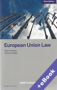 Cover of European Union Law (Book & eBook Pack)