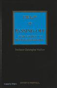 Cover of The Law of Passing-Off: Unfair Competition by Misrepresentation 4th ed