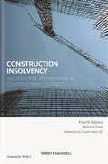 Cover of Construction Insolvency: Security, Risk and Renewal in Construction Contracts